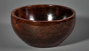 """8"""" Walnut Stained Birch Bowl"""