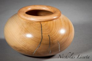 Cherry Rimmed Sycamore Bowl-100
